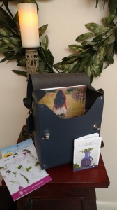 San Lorenzo bag with NYR products - peek inside the bag view